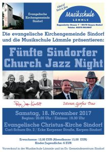 Fünfte Sindorfer Church Jazz Night